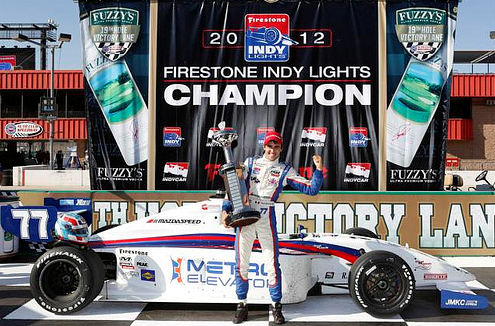 Tristan Vautier 2012 Indy Lights Champion
