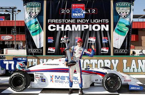 Tristan Vautier 2012 Indy Lights Champion