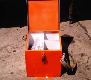 Hoist car top tool box