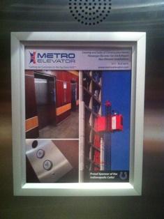 Metro's Ad Inside Lucas Oil Stadium Elevator
