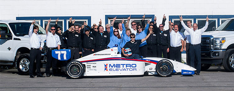 Team Metro with Tristan Vautier, winner of the 2012 Indy Lights Racing Series
