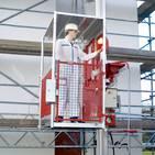 personnel hoist swivel door