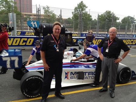 Charlie Ernstes, Roger Brummett and their driver, Tristan Vautier