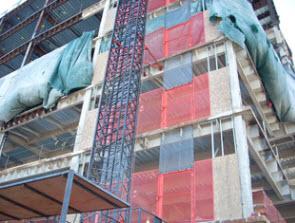 Construction Hoist at St. Joe Hospital