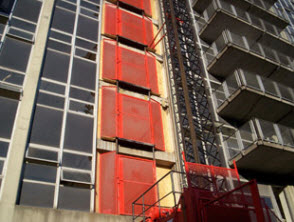 Construction Hoist at University of Cincinnati Hospital