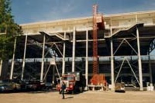 Hoist at Indy 500 Grandstand