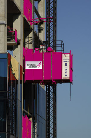 Pink Hoist for Breast Cancer Awareness