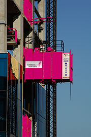 construction elevator pink susan g komen